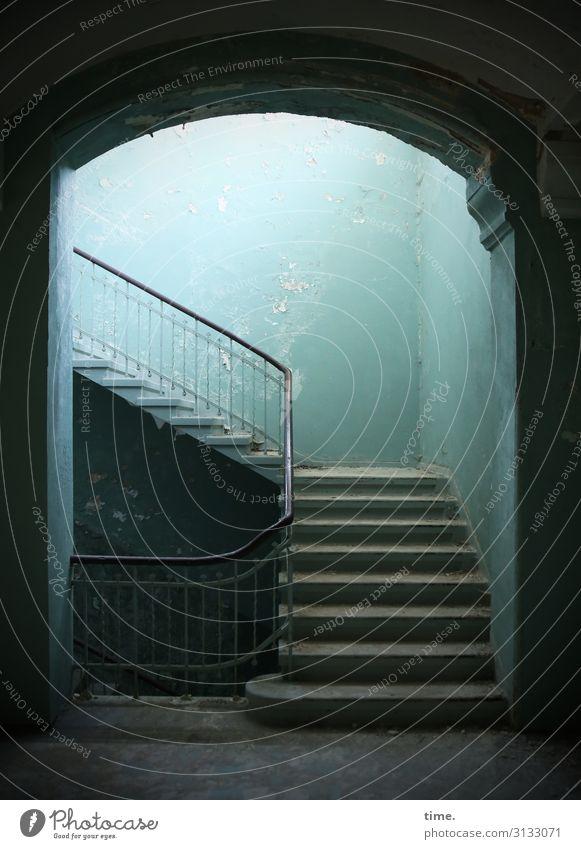 Treppenhaus ::: früher, damals, aus und vorbei ... macht heute keiner mehr ... allein das Geländer ... könn Se nich bezahlen ... die hatten's noch raus ... das war Charakter ... alles hat seine Zeit