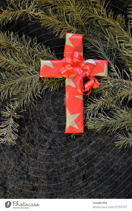 Weihnachten und Karfreitag | Weltschmerz Dekoration & Verzierung Weihnachten & Advent Kreuz gold rot Opferbereitschaft Selbstlosigkeit demütig Tod Glaube