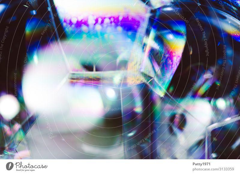 Seifenblase / Schaum Wissenschaften Interferenzfarben Physik Oberflächenspannung Flüssigkeit mehrfarbig bizarr komplex Hintergrundbild durchsichtig Geometrie