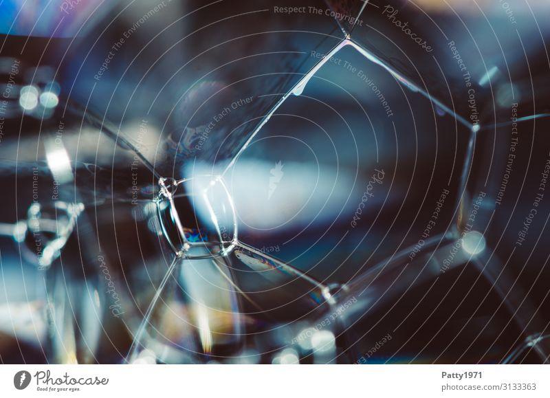 Seifenblase / Schaum Wissenschaften Interferenzfarben Physik Oberflächenspannung Flüssigkeit mehrfarbig bizarr komplex durchsichtig Geometrie Hintergrundbild