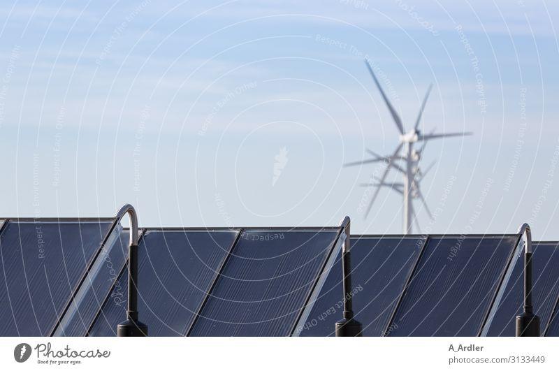 Windenergie und Solarenergie Wissenschaften Wirtschaft Industrie Technik & Technologie Fortschritt Zukunft High-Tech Energiewirtschaft Erneuerbare Energie