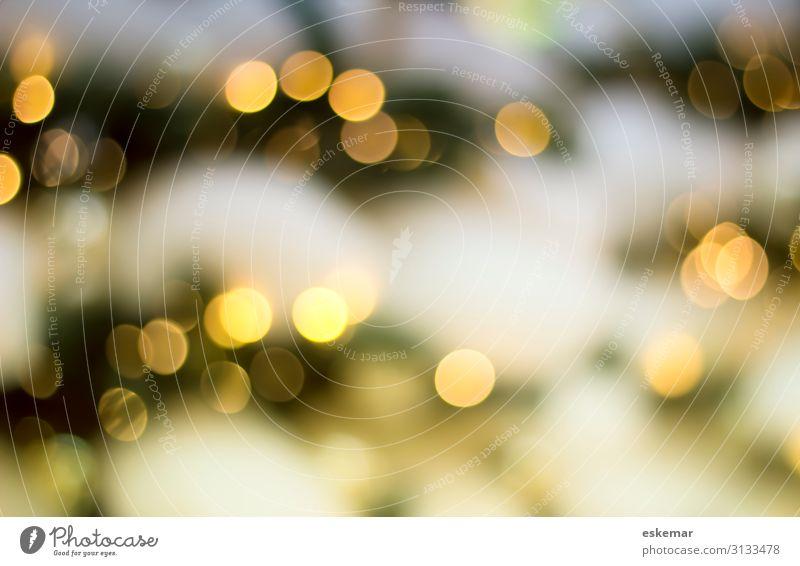 Bokeh Lifestyle kaufen Reichtum Feste & Feiern Weihnachten & Advent Silvester u. Neujahr Winter Schnee Schneefall Baum Weihnachtsbaum ästhetisch glänzend rund