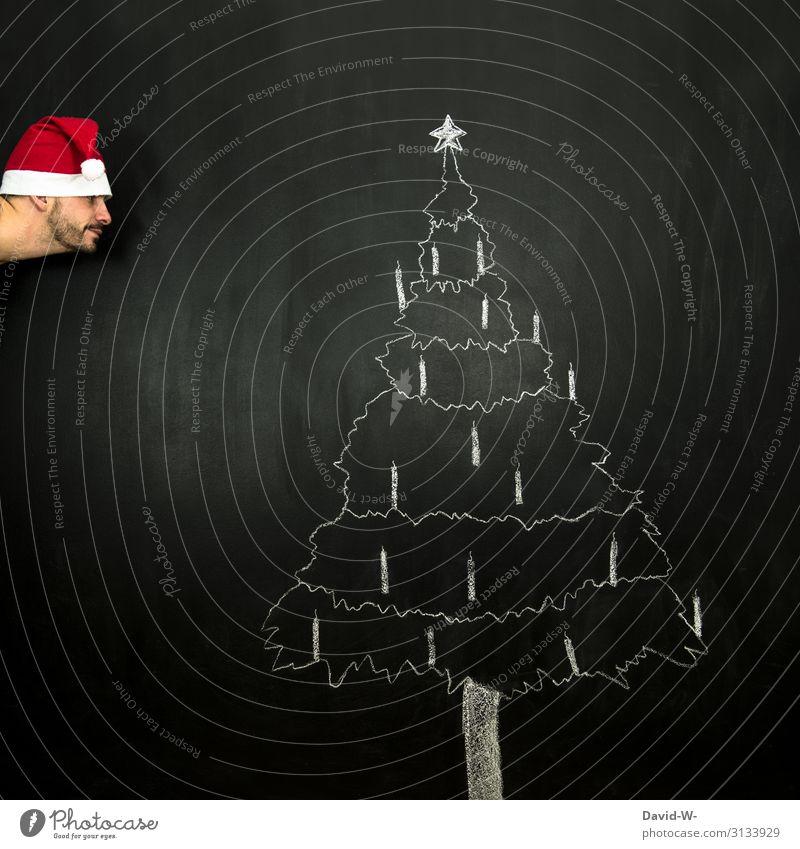 Weihnachten ist bald Lifestyle elegant Stil Freude Glück Weihnachten & Advent Kindererziehung Mensch maskulin Mann Erwachsene Leben Kopf 1 Kunst Künstler