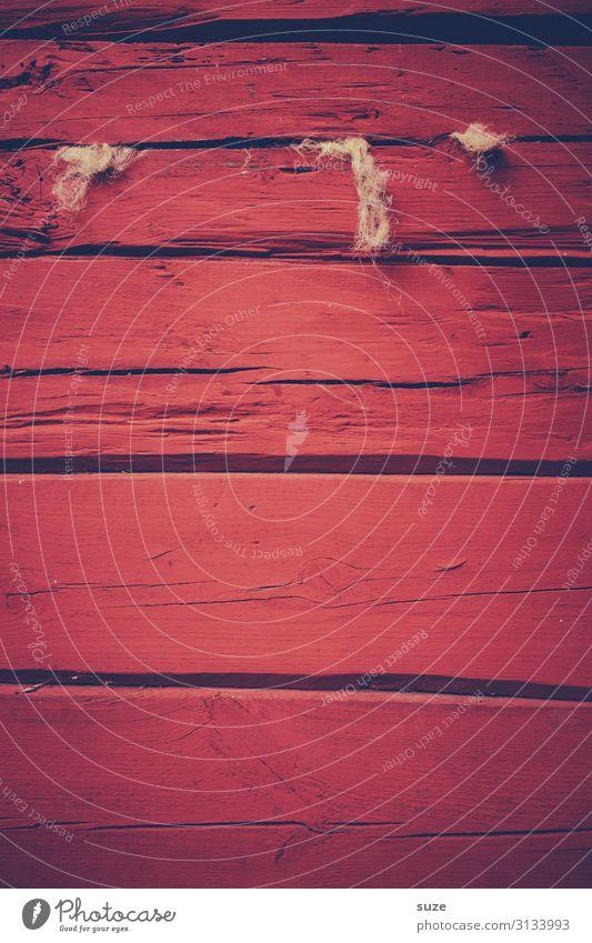 Kaminsuche Wärme Hanf Mauer Wand Fassade Holz Linie Streifen alt authentisch einfach natürlich trist trocken rot Schutz Farbe Schweden Farbstoff Anstrich Zaun