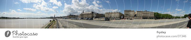 Bordeaux Panorama (Aussicht) Weitwinkel Frankreich Hafenstraße Europa bordeaux groß Panorama (Bildformat)