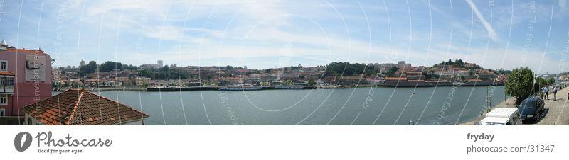 Porto II Panorama (Aussicht) Weitwinkel Portugal Wasserfahrzeug Europa Hafen groß Panorama (Bildformat)