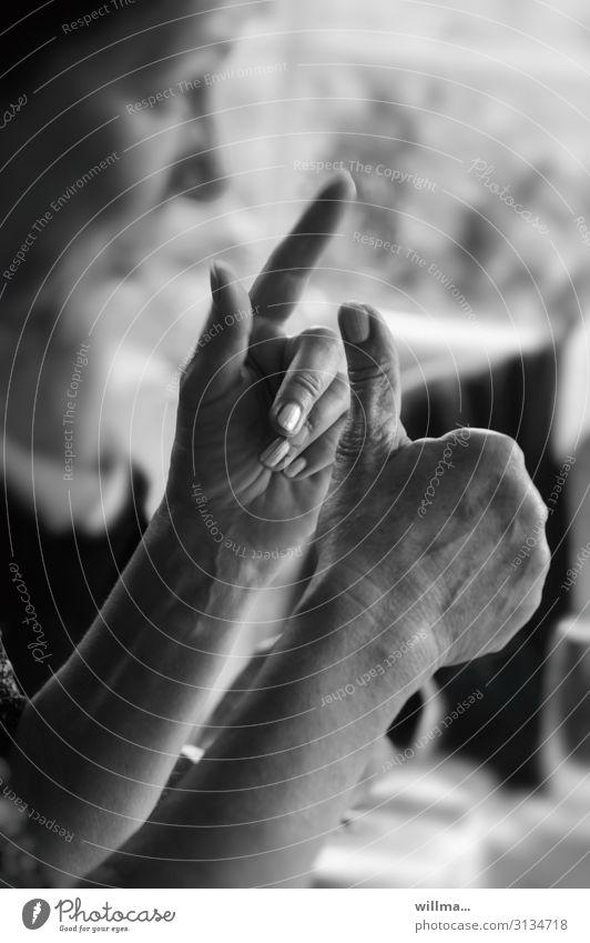Erklären, dikutieren, argumentieren, gestikulieren Hand Finger erklären Kommunizieren sprechen planen Konflikt & Streit Beratung Bildung lernen Unterricht
