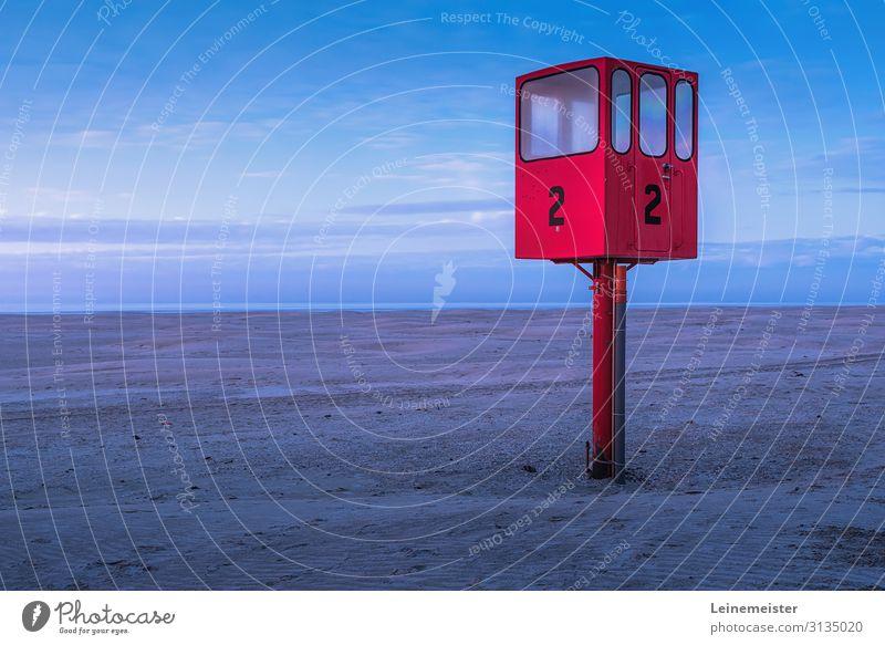 Rettungsschwimmerturm Erholung Ferien & Urlaub & Reisen Tourismus Sommerurlaub Strand Meer Insel Umwelt Landschaft Sand Wetter Küste Juist Deutschland Dorf Turm