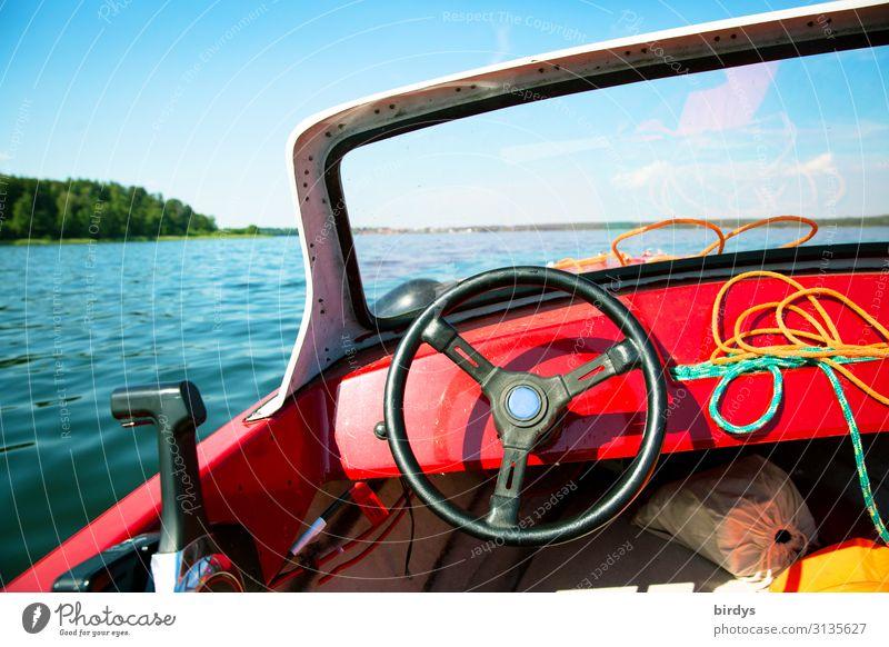 führerlos Freizeit & Hobby Ferien & Urlaub & Reisen Ausflug Freiheit Sommerurlaub Bootsfahrt Natur Wasser Horizont Sonnenlicht See Motorboot Wasserfahrzeug