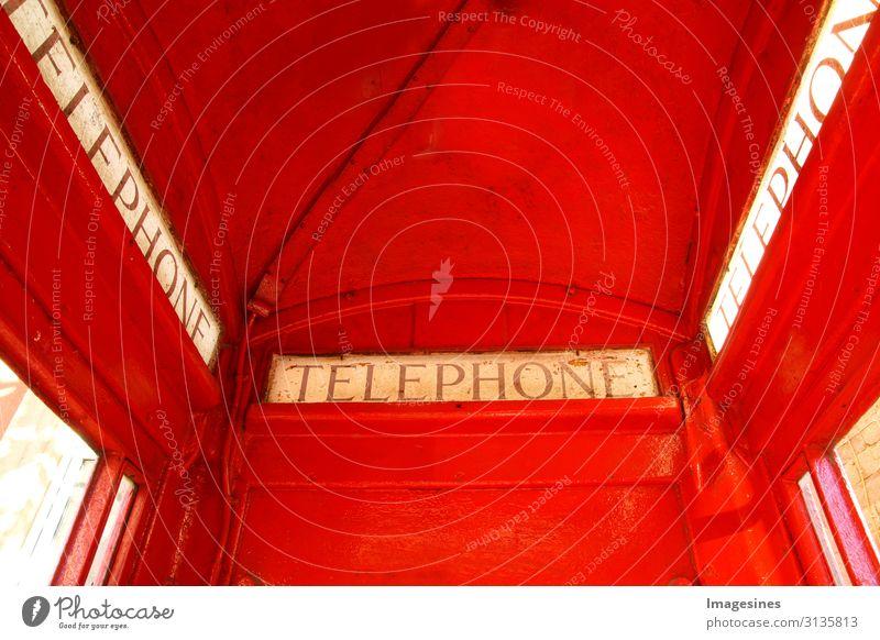 """Telefonzelle Technik & Technologie Telekommunikation Architektur Originalität retro rot Kommunizieren Tourismus Tradition Wandel & Veränderung """"Nahaufnahme"""