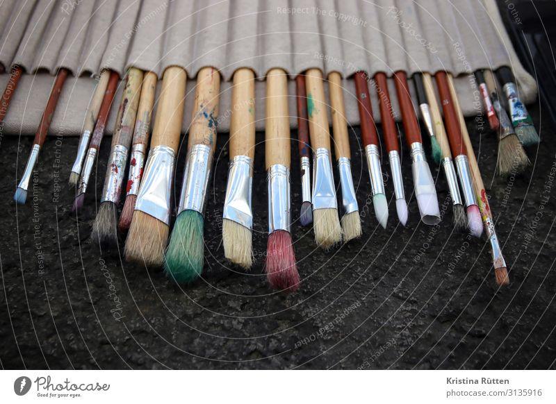 malpinsel Kunst Künstler Maler Gemälde Sauberkeit Ordnungsliebe Kreativität Pinsel Haarpinsel pinseltasche pinselsammlung malen malschule künstlerisch