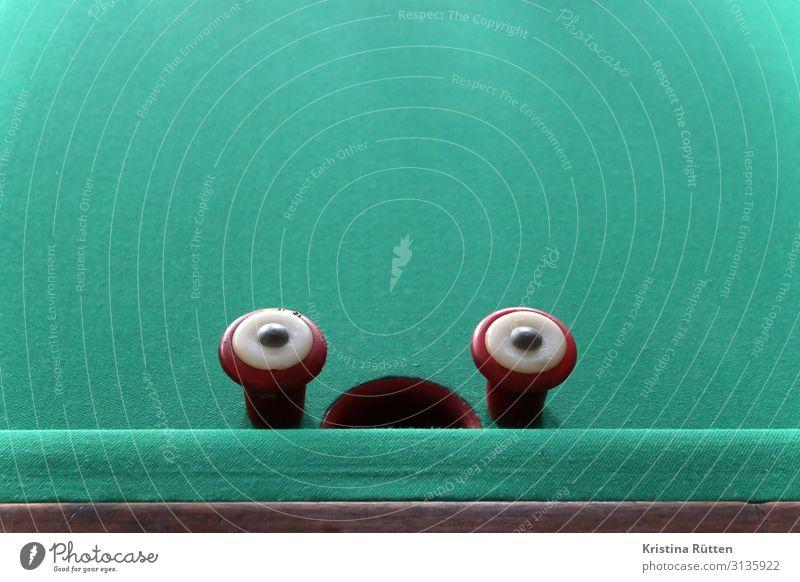 O golfbillard gesicht Freizeit & Hobby Spielen Billard Tisch Sport billardtisch lustig Neugier grün Überraschung Unglaube billard à bouchon bumper pool Barriere