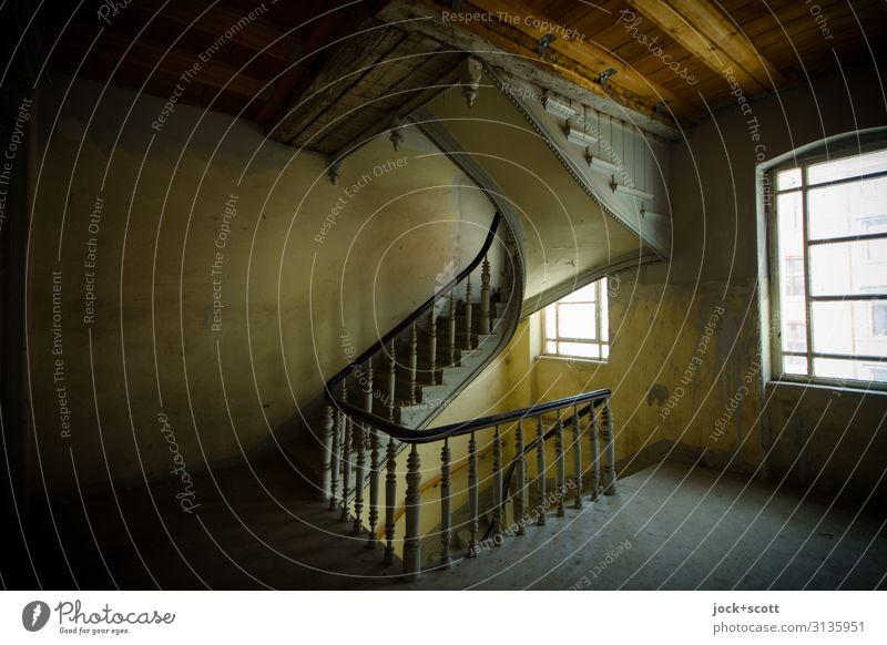 2.OG Architektur Jugendstil Stadthaus Wand Treppe Treppenhaus Etage Holz authentisch historisch elegant Vergangenheit Wege & Pfade Kunsthandwerk ursprünglich