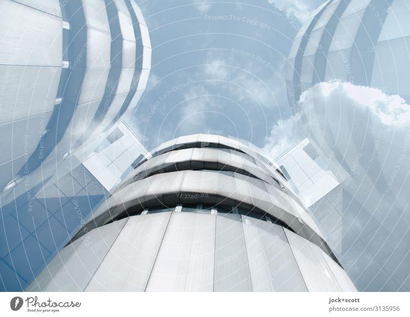 High-Tech Design Architektur Himmel Wolken Charlottenburg Kongressgebäude Fassade Sehenswürdigkeit Aluminium außergewöhnlich hoch modern retro Stimmung Kraft