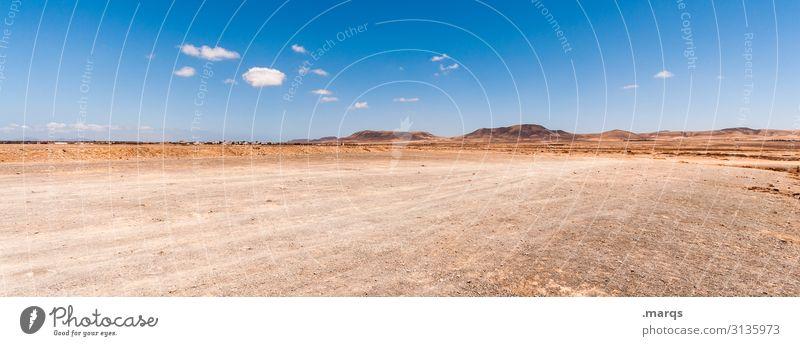 Fuerteventura Ferien & Urlaub & Reisen Ferne Natur Landschaft Horizont Schönes Wetter Menschenleer Freiheit Abenteuer Ausflug Tourismus Sommer Himmel Wolken