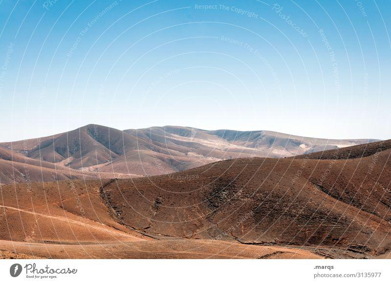 Fuerteventura Ferien & Urlaub & Reisen Ferne Natur Landschaft Schönes Wetter Menschenleer Freiheit Abenteuer Ausflug Tourismus Sommer Himmel Hügel Spanien heiß