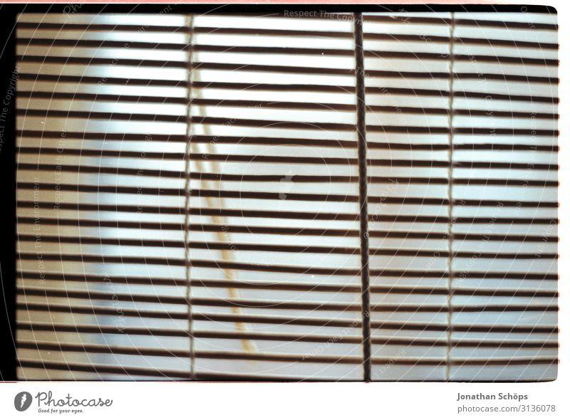 Jalousie geschlossen Farbfoto Linie Rollo einfach gerade Innerhalb (Position) Innenaufnahme Häusliches Leben Wohnung kahl minimalistisch leer Fenster Raum
