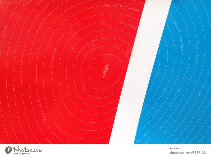 Rot Weiss Blau blau Farbe weiß rot Hintergrundbild Architektur Lifestyle Sport Bewegung Kunst Design Linie frisch modern elegant Kraft