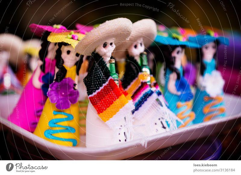Mexican sugar skull and catrina candy Süßwaren Halloween Religion & Glaube Tradition dead mexican mexico colorful muertos Folklore food celebration death Altar