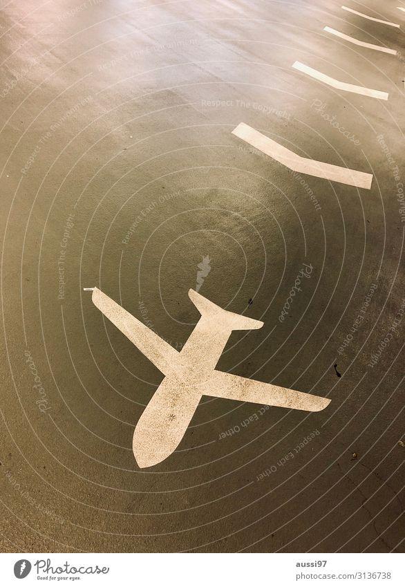 Up up and away Ferien & Urlaub & Reisen fliegen Luftverkehr Schilder & Markierungen Flugzeug Pfeil Flughafen Klimawandel Piktogramm Parkhaus Passagier lenken