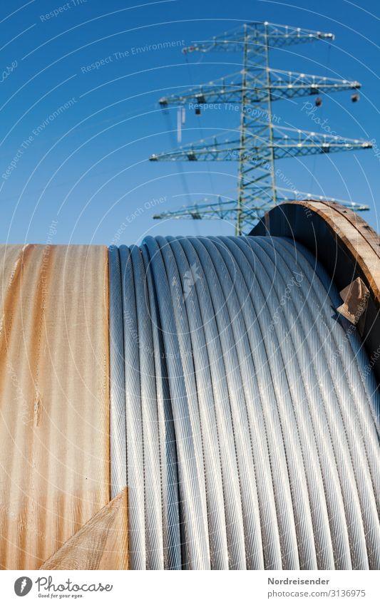 Netzausbau Business Arbeit & Erwerbstätigkeit Metall Energiewirtschaft Technik & Technologie Telekommunikation Schönes Wetter Zukunft Industrie Baustelle