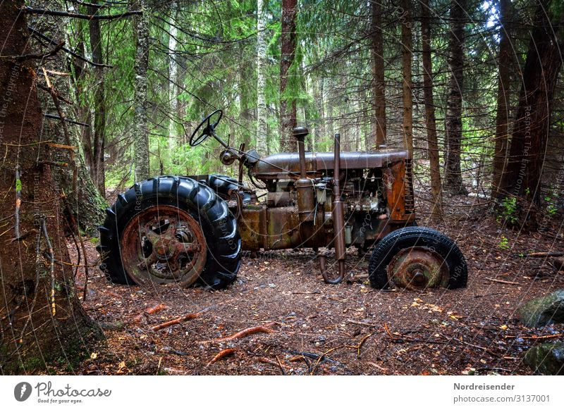 Alt und vergessen Arbeit & Erwerbstätigkeit Arbeitsplatz Landwirtschaft Forstwirtschaft Arbeitslosigkeit Ruhestand Maschine Technik & Technologie Natur Erde