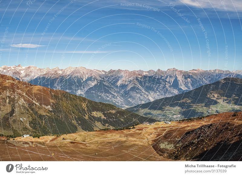 Alpenpanorama Österreich Ferien & Urlaub & Reisen Tourismus Abenteuer Berge u. Gebirge wandern Natur Landschaft Himmel Wolken Sonnenlicht Herbst Schönes Wetter