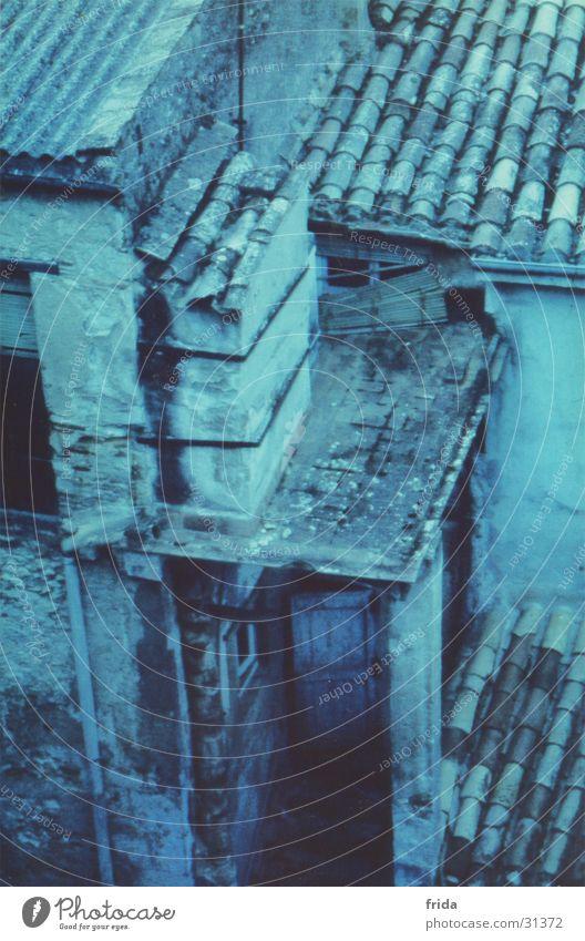spanische Dächer Stadt Haus Tür Europa Dach Nostalgie Dachziegel Cross Processing