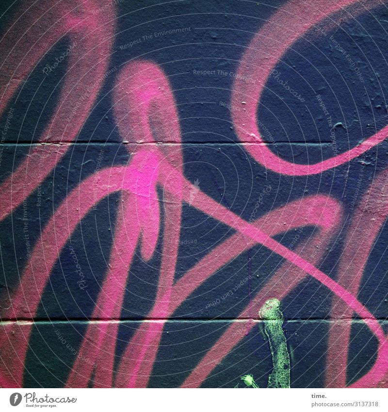 Ausdruckstanz Mauer Wand Farbstoff Farbe Farbfleck Farbenspiel Farbenwelt Stein Beton Linie Streifen Fröhlichkeit rebellisch Stadt wild mehrfarbig Freude