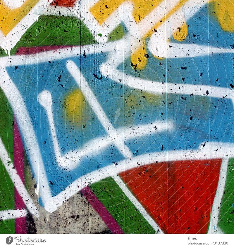 colour up your life (II) Kunst Kunstwerk Gemälde Farbe Farbstoff Farbenwelt Farbenmeer Beton Zeichen Graffiti mehrfarbig Frühlingsgefühle Leidenschaft Leben