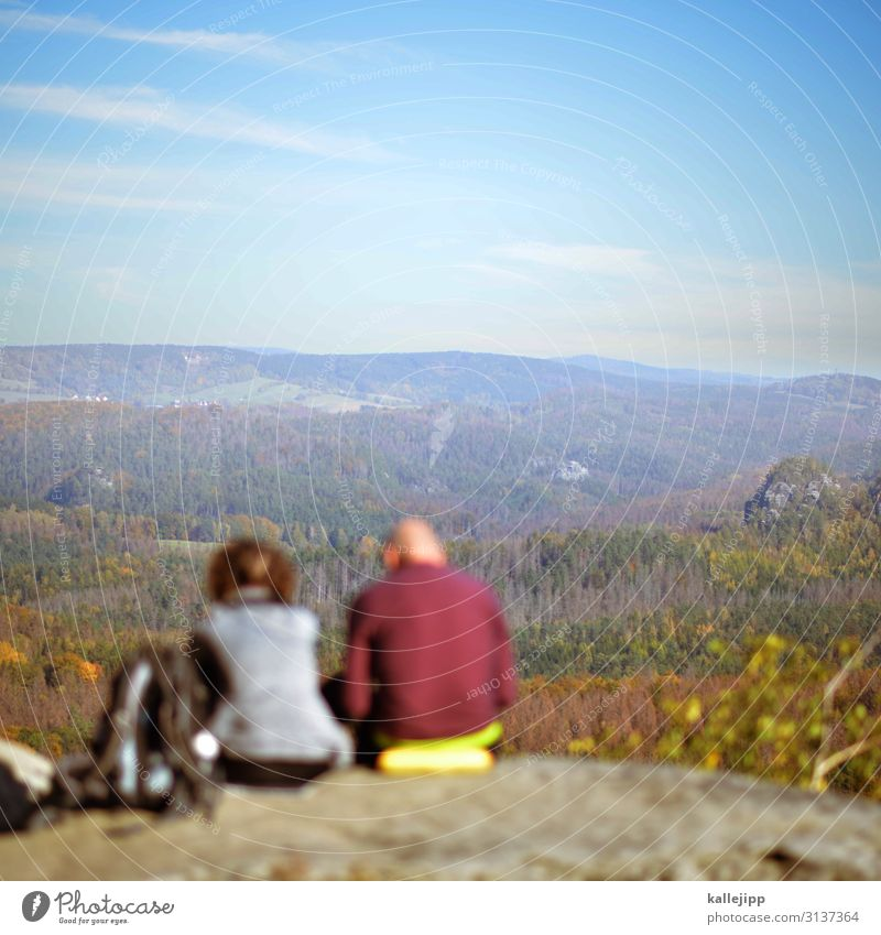 sonntagsausflug Frau Mensch Himmel Natur Mann Pflanze Landschaft Tier Wald Berge u. Gebirge Erwachsene Herbst Umwelt Sport Felsen Horizont
