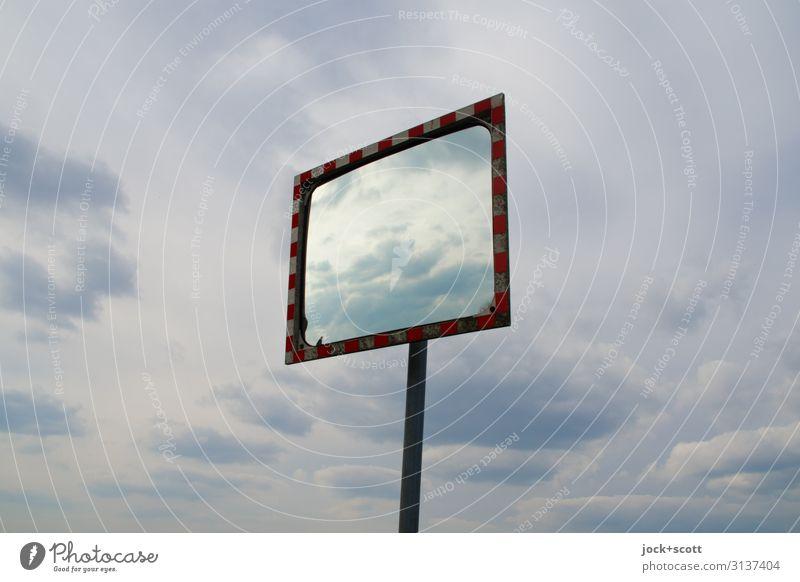 Klima & Konvex Himmel Wolken Berlin-Tempelhof Verkehrssicherheit Spiegel konvex frei Design Horizont Mittelpunkt Umwelt Ferne gleich Freiheit Gedeckte Farben