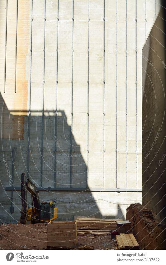 Bagger mich nicht an New York City Menschenleer Haus Baustelle Mauer Wand Stein Sand Holz bauen dunkel hässlich Stadt braun grau Business Handel