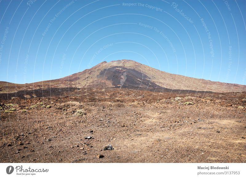 Teide, Vulkan auf Teneriffa auf den Kanarischen Inseln, Spanien. Ferien & Urlaub & Reisen Tourismus Ausflug Abenteuer Expedition Sommer Berge u. Gebirge wandern