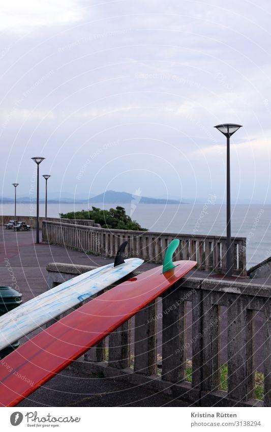 surfboards biarritz Lifestyle Freizeit & Hobby Ferien & Urlaub & Reisen Tourismus Wassersport Feierabend Himmel Küste Erholung Stimmung ruhig Freiheit Pause