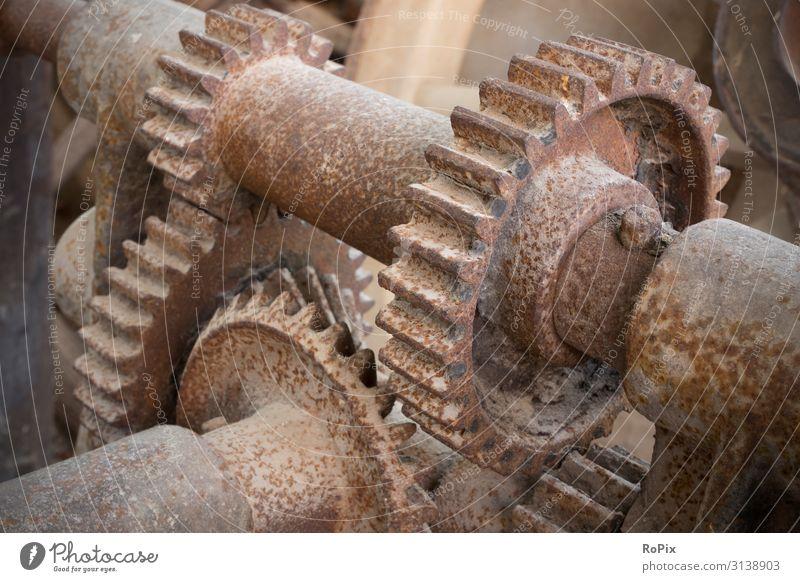 Detail eines historischen Getriebes. Lifestyle Design Freizeit & Hobby Wissenschaften Arbeit & Erwerbstätigkeit Beruf Arbeitsplatz Fabrik Wirtschaft