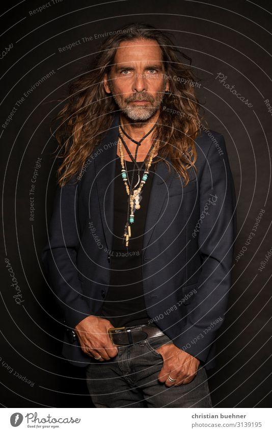 hippie man schön Mann Erwachsene 1 Mensch 45-60 Jahre Künstler Coolness Erotik Erfolg Kraft Abenteuer ästhetisch Design Duft einzigartig Energie