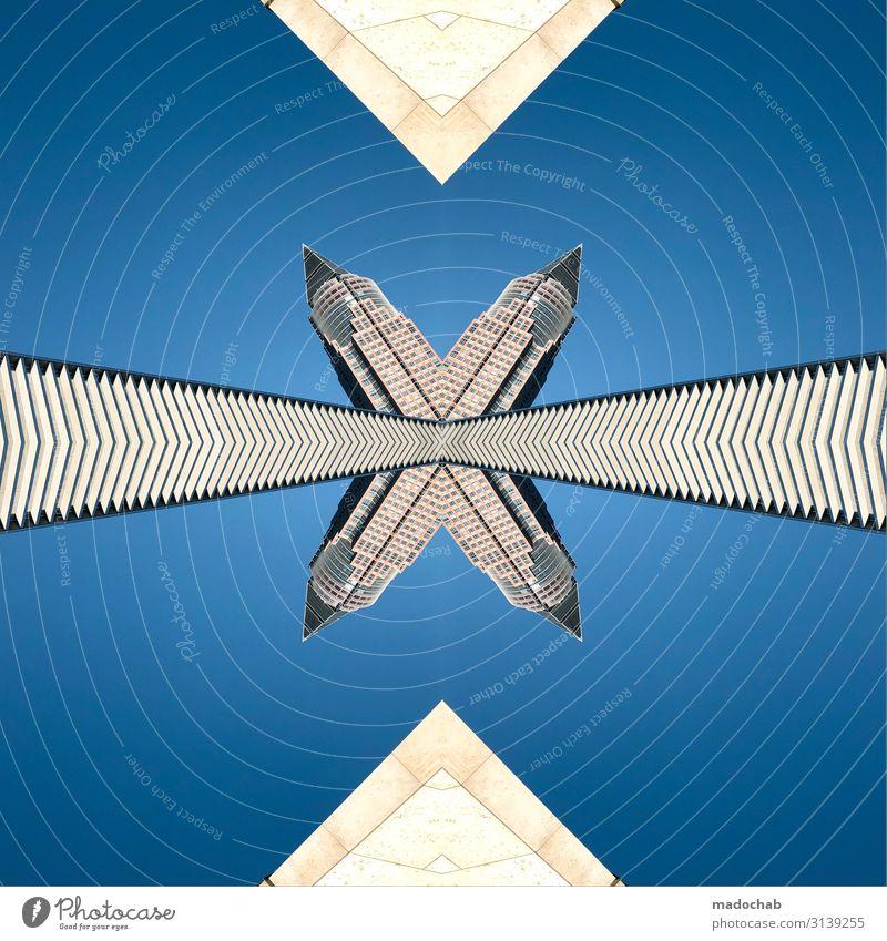 Messeturm Frankfurt am Main Stadt Architektur Wege & Pfade Business Gebäude Hochhaus glänzend Wachstum Erfolg Zukunft Wandel & Veränderung Skyline Bauwerk