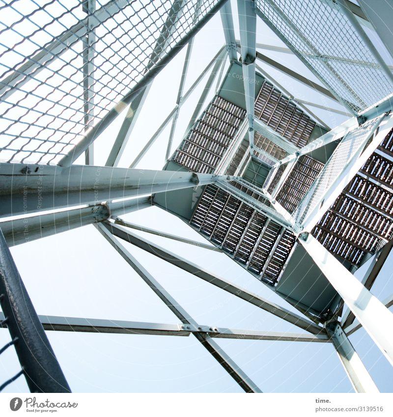 Halswirbelsäulentraining (III) Ferne Architektur Holz Leben Wege & Pfade Gebäude Kunst Linie Metall ästhetisch Kreativität hoch Neugier Turm entdecken Bauwerk