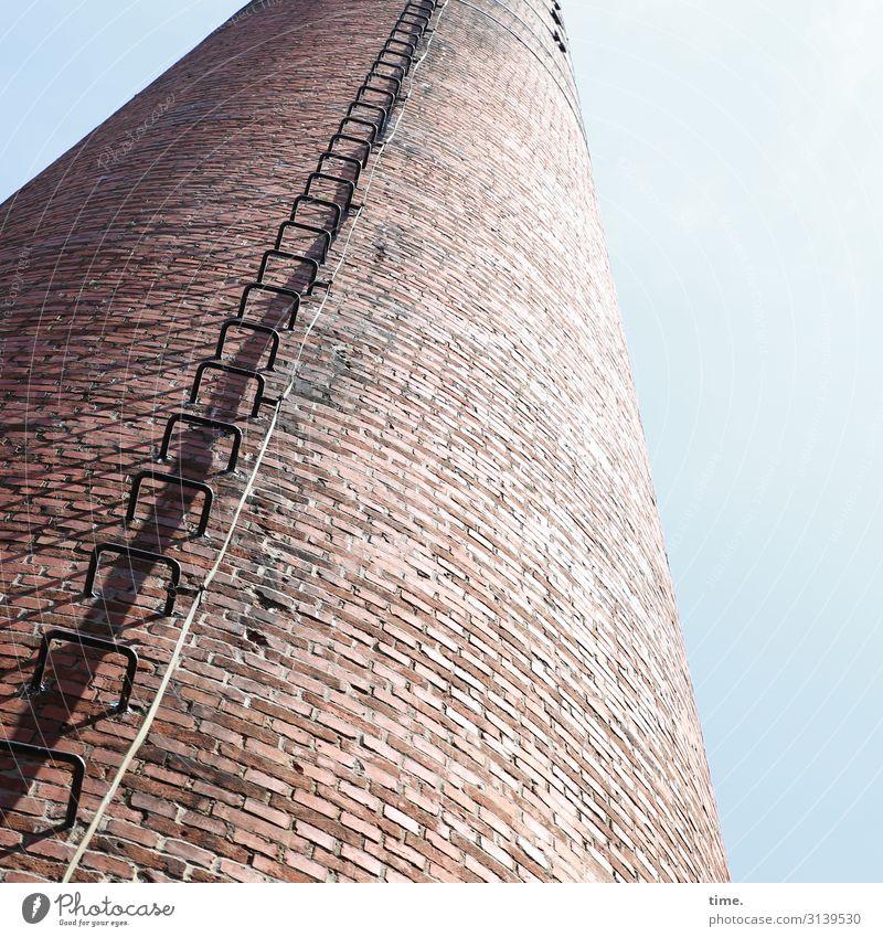 Halswirbelsäulentraining (XXIV) Arbeitsplatz Fabrik Industrie Technik & Technologie Energiewirtschaft Kabel Himmel Schönes Wetter Turm Bauwerk Gebäude