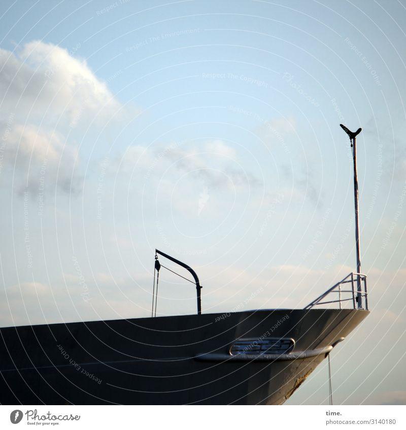 alter Stolz (2) bootswand schiff maritim vergänglichkeit sicherheit himmel seil reling Schiffsbug Schönes Wetter stolz
