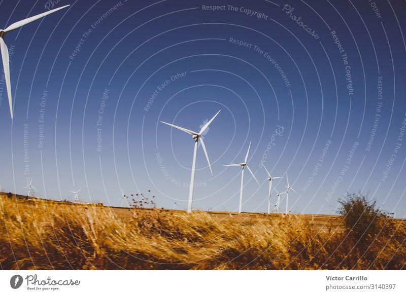 blau schön natürlich modern Technik & Technologie Industrie Sauberkeit gut Windkraftanlage klug Erneuerbare Energie