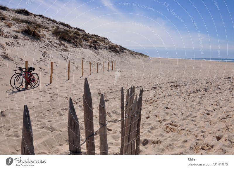 Am Atlantik Freizeit & Hobby Ferien & Urlaub & Reisen Ausflug Fitness Sport-Training Fahrradfahren Umwelt Natur Landschaft Sand Himmel Wolken Horizont