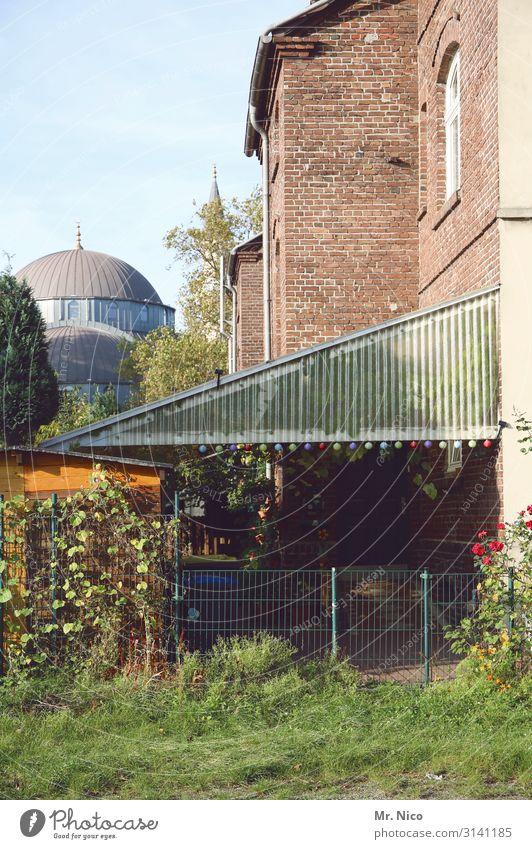 Auf gute Nachbarschaft Umwelt Stadt Haus Garten Gastfreundschaft Glaube Moschee Hinterhof Duisburg Ruhrgebiet Islam Idylle Wahrzeichen Integration Akzeptanz