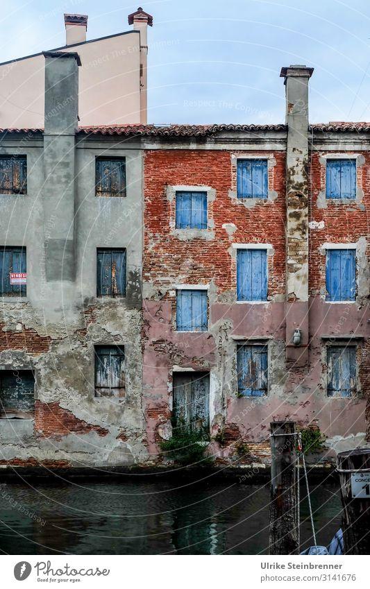 Wasserschaden Ferien & Urlaub & Reisen Tourismus Sightseeing Städtereise Chioggia Italien Europa Fischerdorf Kleinstadt Hafenstadt Stadtzentrum Altstadt Haus