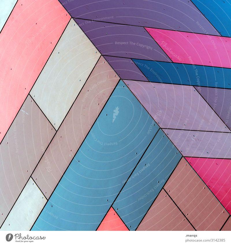 Kubus blau Farbe Hintergrundbild Lifestyle Stil außergewöhnlich braun Fassade rosa Design modern elegant Ordnung ästhetisch Kreativität Perspektive