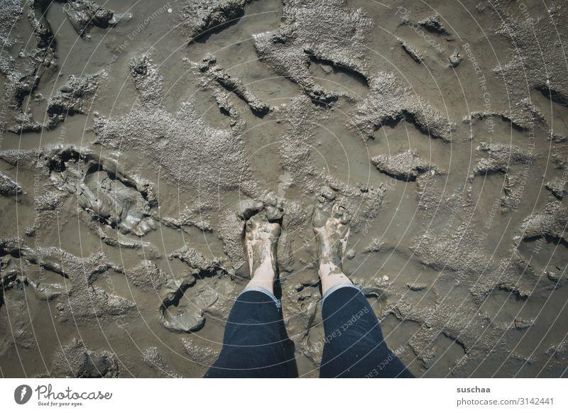 schön matschig Schlamm Schlick dreckig Meer Wattenmeer Strand nass Nordsee Ostsee Heilerde Wellness Gesundheit Kur Ferien & Urlaub & Reisen Barfuß