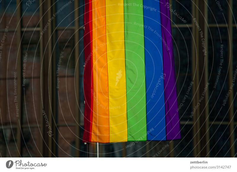 Regenbogenfahne mehrfarbig Fahne Farbe Farbbrillianz Farbwert Farbenspiel Farbverlauf regenbogenfarben Regenbogenflagge Regenbogentuch Homosexualität Verlauf