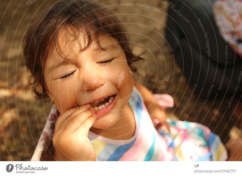 Kind Mensch ruhig Freude Lebensmittel Essen Erwachsene Gefühle Familie & Verwandtschaft Stimmung Zufriedenheit Ernährung Fröhlichkeit Lebensfreude Baby