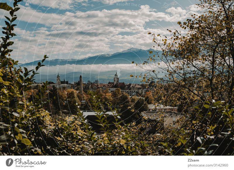 Innsbruck Freizeit & Hobby Ferien & Urlaub & Reisen Tourismus Sightseeing Berge u. Gebirge wandern Umwelt Natur Landschaft Wolken Schönes Wetter Sträucher Alpen